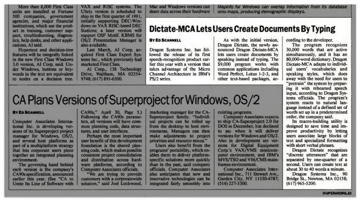 Image result for November 1990, Infoworld